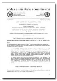 Codex Committee on Food Additives and Co... by Food and Agriculture Organization of the United Na...