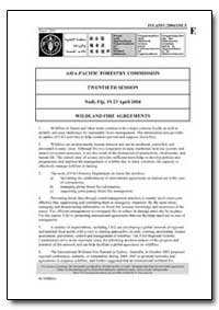 Wildland Fire Agreements by Food and Agriculture Organization of the United Na...