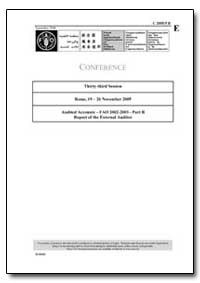 Audited Accounts Fao 2002-2003-Part B Re... by Food and Agriculture Organization of the United Na...