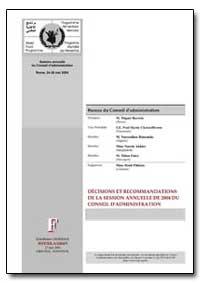 Decisions et Recommandations de la Sessi... by Barreto, M. Miguel