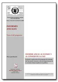 Informe Anual Al Ecosoc Y Al Consejo de ... by Food and Agriculture Organization of the United Na...