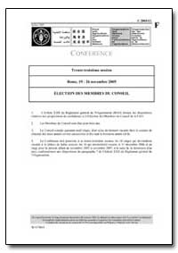 Election des Membres du Conseil by Food and Agriculture Organization of the United Na...