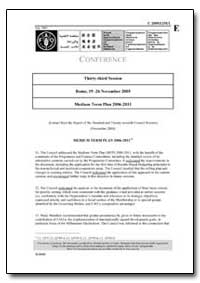 Medium Term Plan 2006-2011 by Food and Agriculture Organization of the United Na...