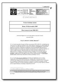 Plan a Moyen Terme 2006-2011 by Food and Agriculture Organization of the United Na...
