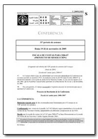 Escala de Cuotas para 2006-07 (Proyecto ... by Food and Agriculture Organization of the United Na...