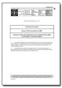 Notificacion de Ingreso en Los Comites d... by Food and Agriculture Organization of the United Na...
