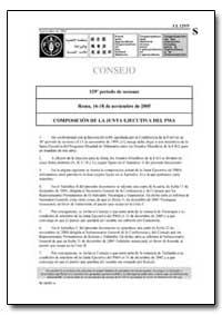Composicion de la Junta Ejecutiva Del Pm... by Food and Agriculture Organization of the United Na...