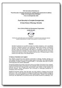 Food Security in Complex Emergencies : A... by Food and Agriculture Organization of the United Na...
