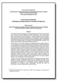 Food Aid and Livelihoods : Challenges an... by Guarnieri, Valerie