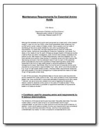 Maintenance Requirements for Essential A... by Munro, H. N.