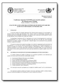 Analyse de la Situation des Systemes de ... by Food and Agriculture Organization of the United Na...