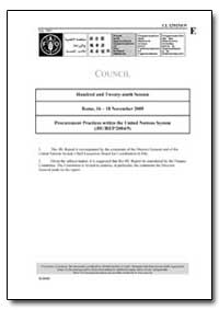 Procurement Practices Within the United ... by Food and Agriculture Organization of the United Na...