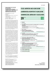 Food, Nutrition and Agriculture Issn 101... by Food and Agriculture Organization of the United Na...