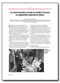 La Communication Sociale en Nutrition a ... by Andrien, M.