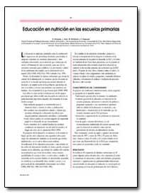 Educacion en Nutricion en las Escuelas P... by Olivares, S.