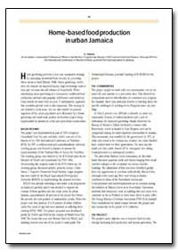 Home-Based Food Production in Urban Jama... by Valstar, A.
