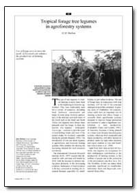 Tropical Forage Tree Legumes in Agrofore... by Shelton, H. M.