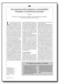 Asociaciones Entre Empresas Y Comunidade... by Mayers, J.