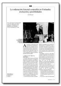 La Ordenacion Forestal Sostenible en Fin... by Ahtisaari, M.