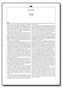 Editorial : Teak by Food and Agriculture Organization of the United Na...