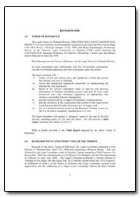 Terms of Reference for the Legal Advice ... by Food and Agriculture Organization of the United Na...