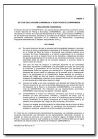 Acta de Declaracion Consensual Y Aceptac... by Food and Agriculture Organization of the United Na...