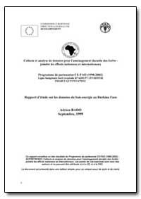 Rapport Detude sur les Donnees du Bois-E... by Food and Agriculture Organization of the United Na...