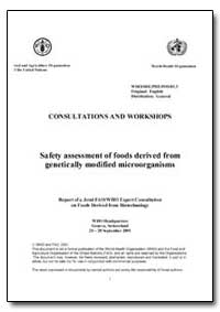 Safety Assessment of Foods Derived from ... by Food and Agriculture Organization of the United Na...
