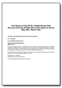 Final Report of the R/V Dr. Fridtjof Nan... by Stromme, Tore