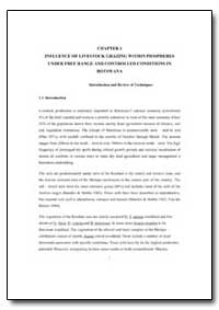 Chapter 1 Influence of Livestock Grazing... by Food and Agriculture Organization of the United Na...