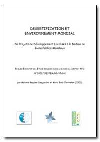 Desertification et Societe Civile by Food and Agriculture Organization of the United Na...