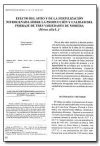 Efecto Del Sitio Y de la Fertilizacion, ... by Espinosa, Efrain