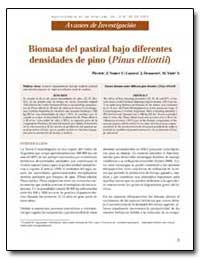 Biomasa Del Pastizal Bajo Diferentes Den... by Nunez, Plevich J.