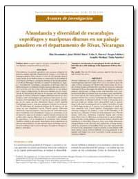 Abundancia Y Diversidad de Escarabajos C... by Hernandez, Blas