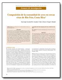 Composicion de la Comunidad de Aves en C... by Lang, Ivan
