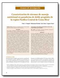 Caracterizacion de Sistemas de Manejo Nu... by Holguin, Vilma A.