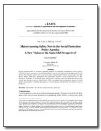 Mainstreaming Safety Nets in the Social ... by Gentilini, Ugo