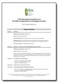 Fao International Conference on the Role... by Food and Agriculture Organization of the United Na...