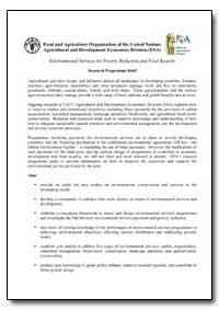 Environmental Services for Poverty Reduc... by Food and Agriculture Organization of the United Na...
