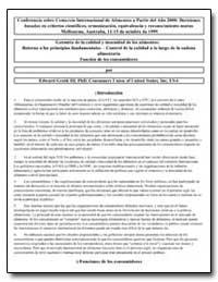 Garantia de la Calidad Y Inocuidad de Lo... by Groth, Edward Iii, Ph. D.