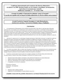 Garantir la Qualite et Linnocuite des Al... by Tontisirin, Kraisid