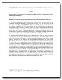 Annex Extract from the Report of the For... by Food and Agriculture Organization of the United Na...