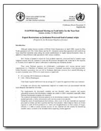 Export Restrictions on Jordanian Process... by Food and Agriculture Organization of the United Na...