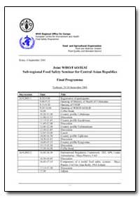 Joint Who/Fao/Ilsi Sub-Regional Food Saf... by Food and Agriculture Organization of the United Na...