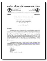 Joint Fao/Who Food Standards Programme C... by Food and Agriculture Organization of the United Na...
