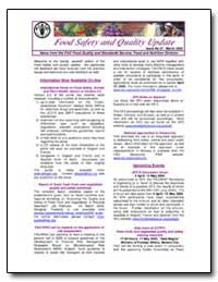 News from the Fao Food Quality and Stand... by Food and Agriculture Organization of the United Na...