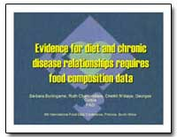 Evidence for Diet and Chronic Disease Re... by Food and Agriculture Organization of the United Na...