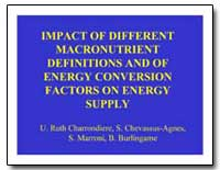 Impact of Different Macronutrient Defini... by Charrondiere, U. Ruth
