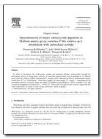 Original Article Determination of Major ... by Kallithraka, Stamatina