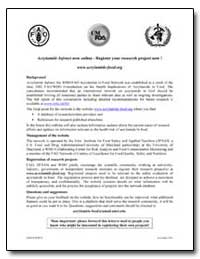 Acrylamide Infonet Now Online-Register Y... by Food and Agriculture Organization of the United Na...